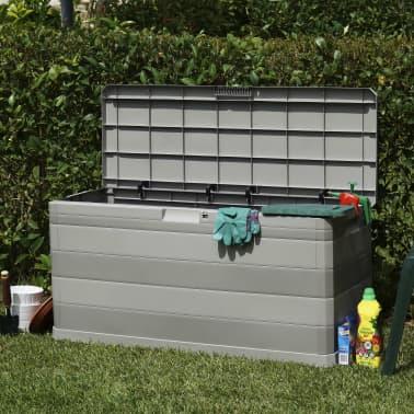 vidaXL Gartenbox Grau 117×45×56 cm[3/8]