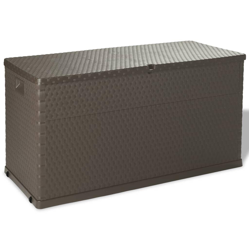 vidaXL Venkovní úložný box 420 l hnědý