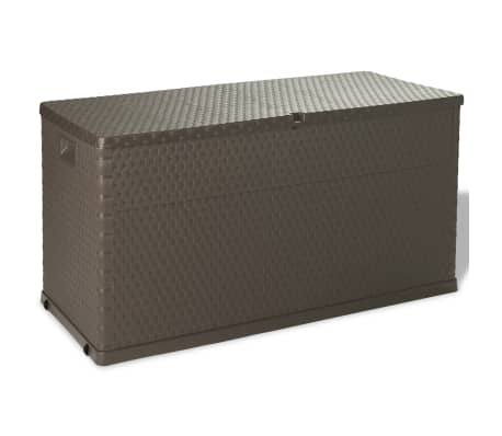 vidaXL Garden Storage Box Brown 120x56x63 cm