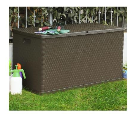 vidaXL Gartenbox Braun 120×56×63 cm[4/11]