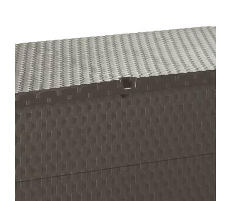 vidaXL Gartenbox Braun 120×56×63 cm[10/11]