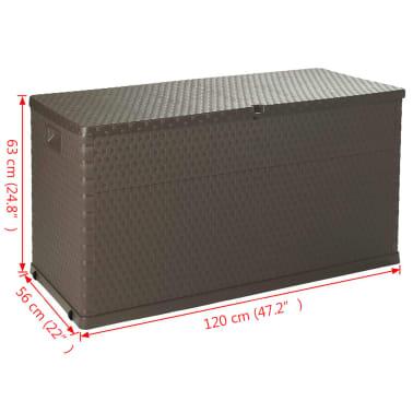 vidaXL Gartenbox Braun 120×56×63 cm[11/11]