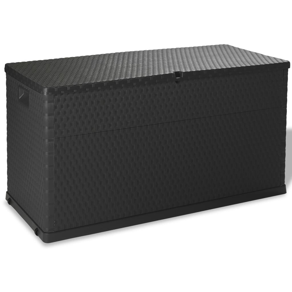 vidaXL Venkovní úložný box 420 l antracitový