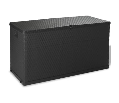 vidaXL Garden Storage Box Anthracite 120x56x63 cm-picture