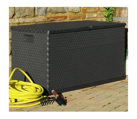 vidaXL dārza uzglabāšanas kaste, antracītpelēka, 120x56x63 cm[4/10]