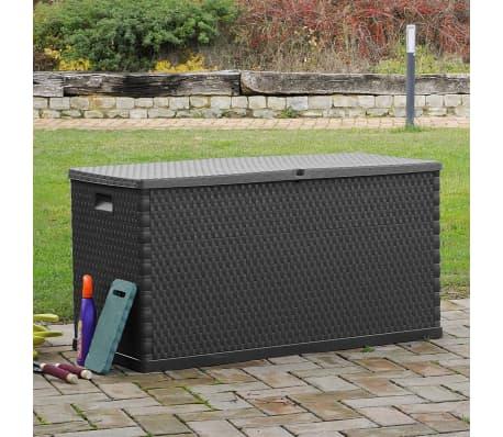 vidaXL dārza uzglabāšanas kaste, antracītpelēka, 120x56x63 cm[5/10]