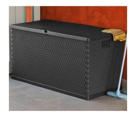 vidaXL dārza uzglabāšanas kaste, antracītpelēka, 120x56x63 cm[6/10]