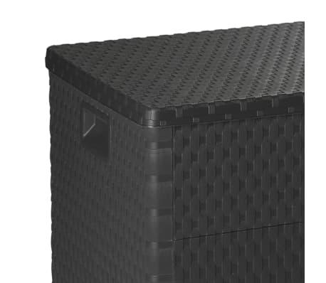 vidaXL dārza uzglabāšanas kaste, antracītpelēka, 120x56x63 cm[7/10]