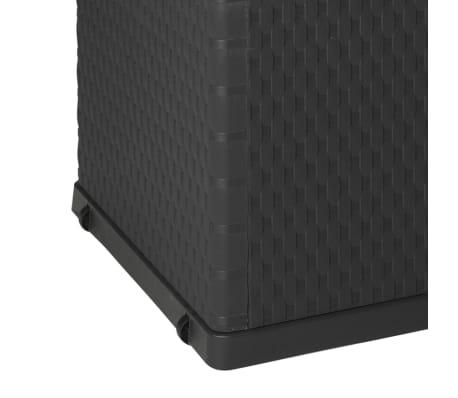 vidaXL dārza uzglabāšanas kaste, antracītpelēka, 120x56x63 cm[8/10]