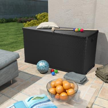 vidaXL dārza uzglabāšanas kaste, antracītpelēka, 120x56x63 cm[2/10]