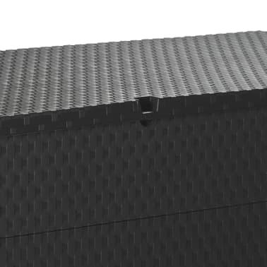 vidaXL dārza uzglabāšanas kaste, antracītpelēka, 120x56x63 cm[9/10]