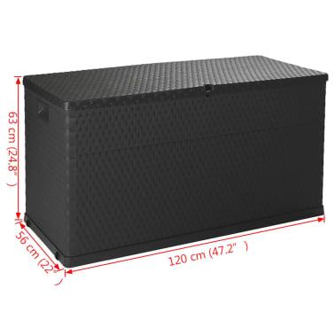 vidaXL dārza uzglabāšanas kaste, antracītpelēka, 120x56x63 cm[10/10]