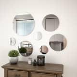 vidaXL 7 Piece Wall Mirror Set Round Glass