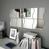 vidaXL Wandspiegels golfvormig 8 st 20x20 cm glas
