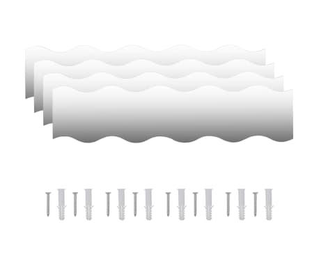 vidaXL Nástenné zrkadlá 4 ks 110x23 cm sklo s vlnkami