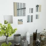 vidaXL Ensemble de miroirs muraux carrés 7 pcs Verre