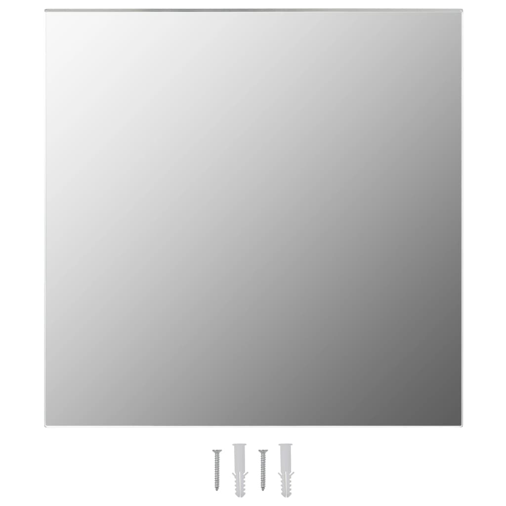vidaXL Καθρέφτης Τοίχου Τετράγωνος 40 x 40 εκ. Γυάλινος