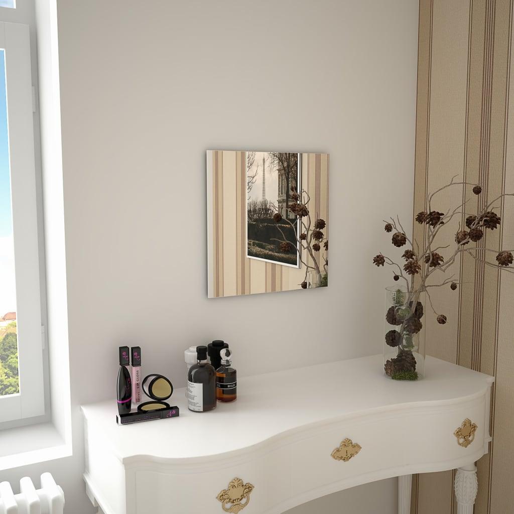vidaXL Nástěnné zrcadlo 40 x 40 cm čtvercové sklo