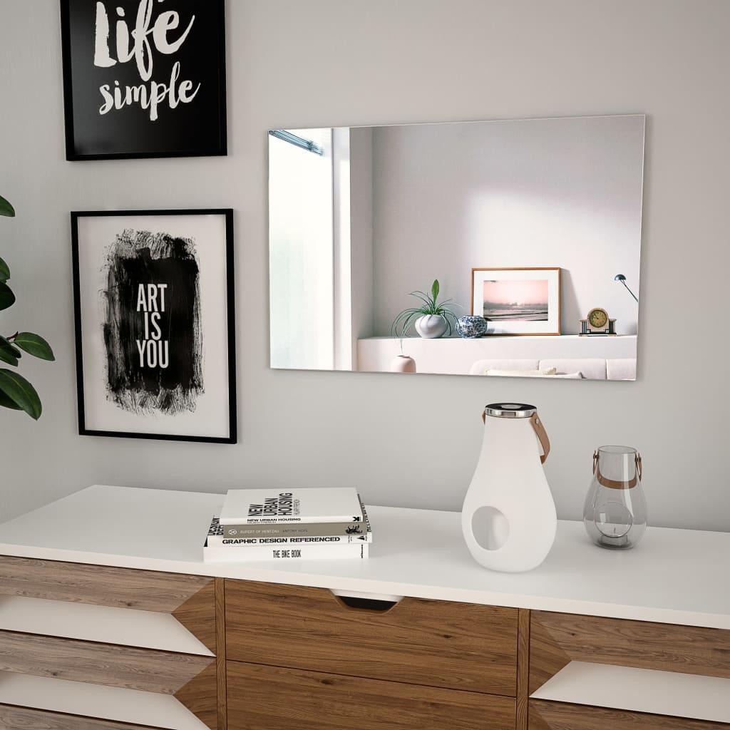 Nástěnné zrcadlo 60 x 40 cm obdélníkové sklo