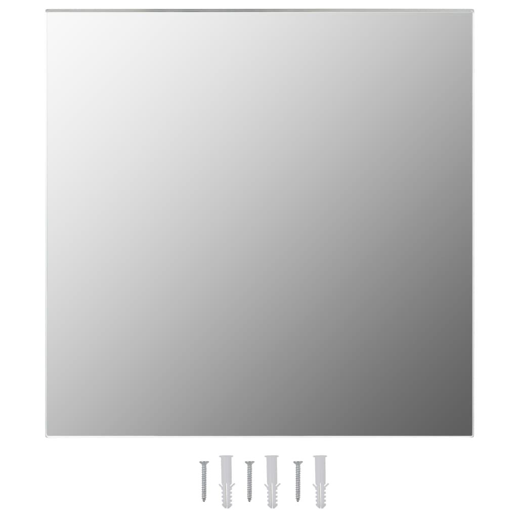 vidaXL Καθρέφτης Τοίχου Τετράγωνος 60 x 60 εκ. Γυάλινος