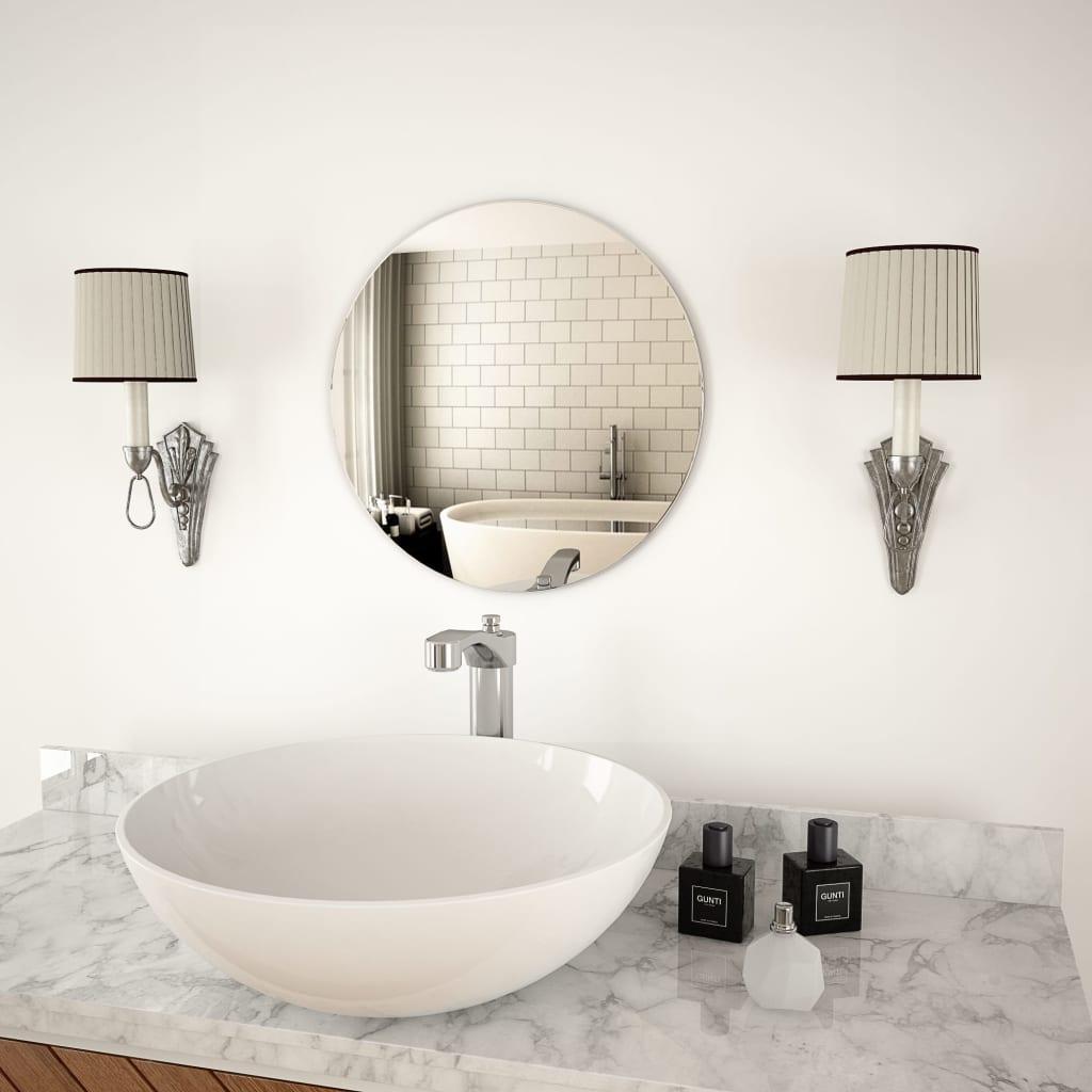 vidaXL Nástěnné zrcadlo 40 cm kulaté sklo
