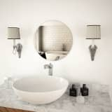 vidaXL Wall Mirror 40 cm Round Glass