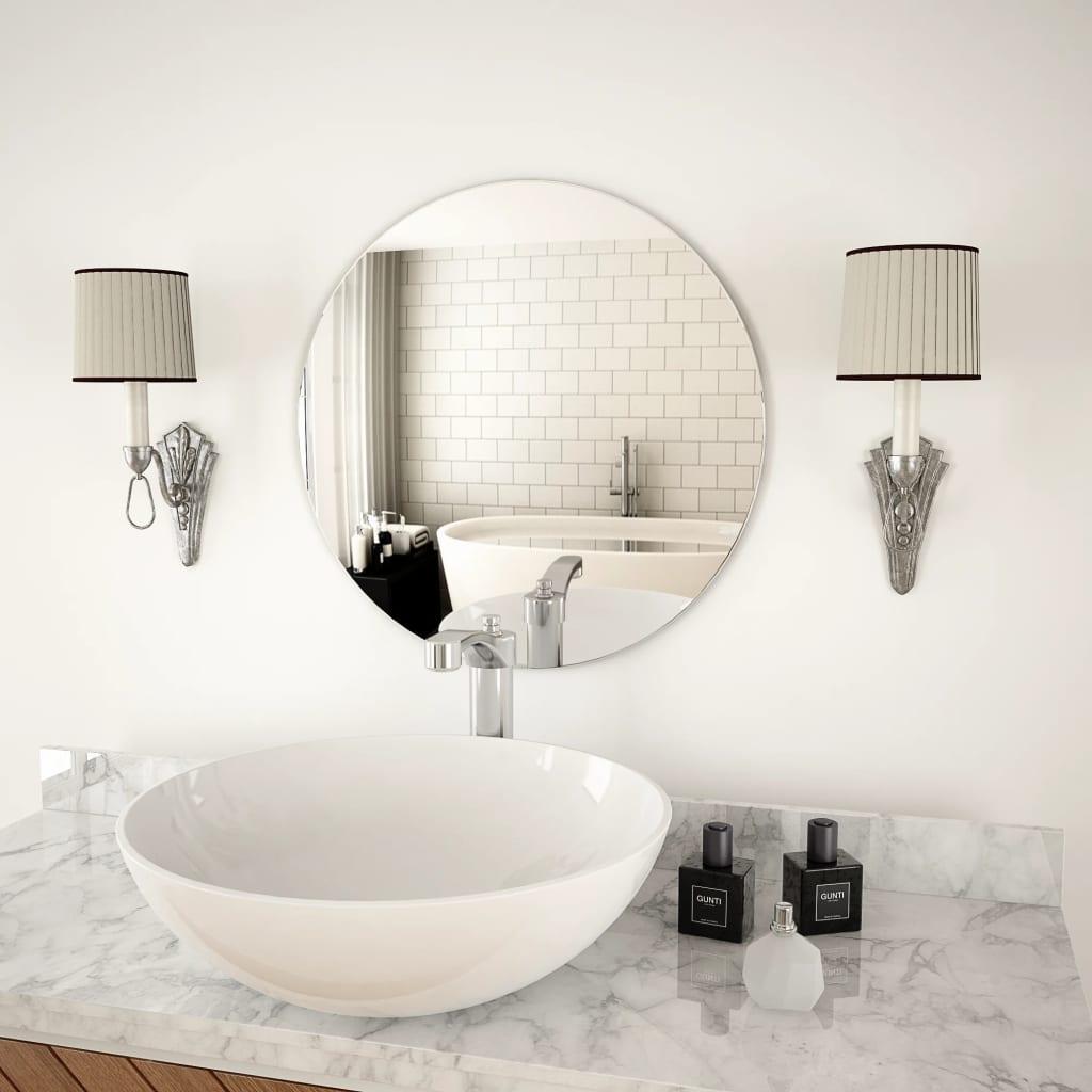 Nástěnné zrcadlo 50 cm kulaté sklo