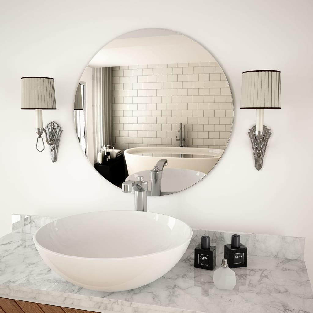 vidaXL Nástěnné zrcadlo 60 cm kulaté sklo