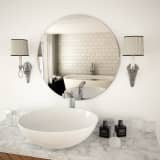 vidaXL Oglindă de perete, 60 cm, sticlă, rotundă