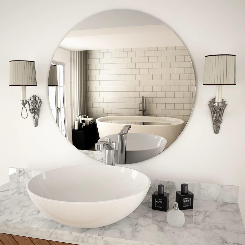 Nástěnné zrcadlo 70 cm kulaté sklo