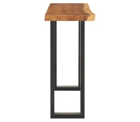 vidaXL Konsolinis staliukas, tikr. skėtaro med. masyv., 110x35x75cm[3/10]