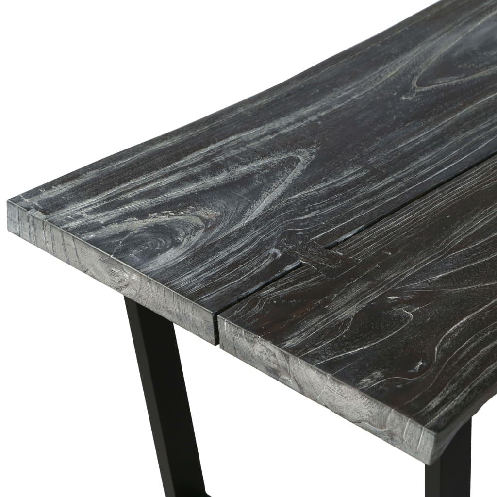 Vidaxl Table Basse Bois D Arbre A Pluie Massif Gris Table D Appoint Salon