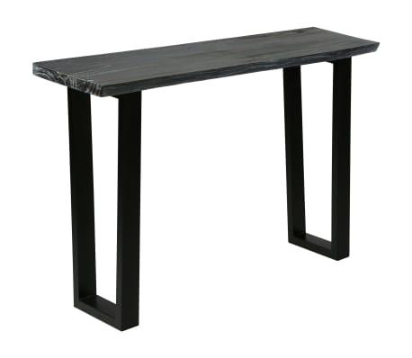 vidaXL Konsolinis staliukas, kin. mel. med. masyv., 110x35x75cm, pilk.[10/10]
