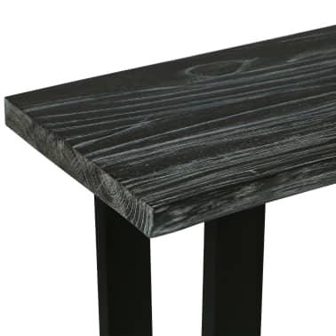 vidaXL Konsolinis staliukas, kin. mel. med. masyv., 110x35x75cm, pilk.[4/10]