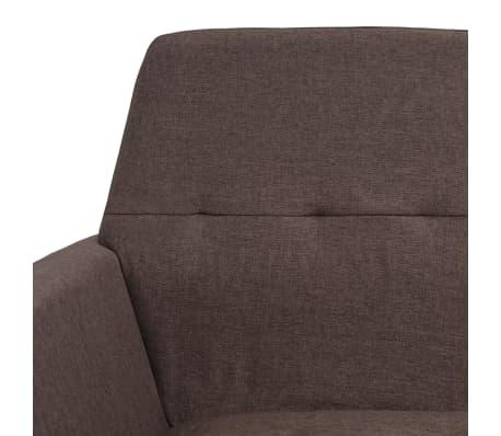 vidaXL Fotel tapicerowany materiałem, stalowe nogi, brązowy[6/7]