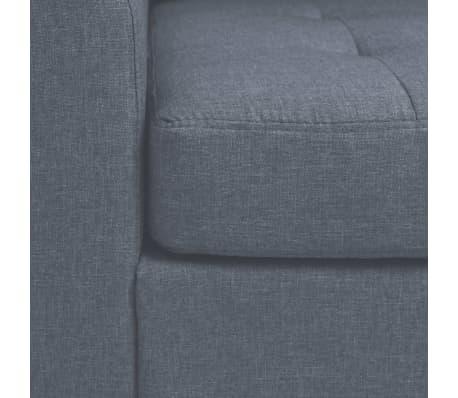 vidaXL Fotel materiałowy z poduszką, stalowe nogi, jasnoszary[7/11]