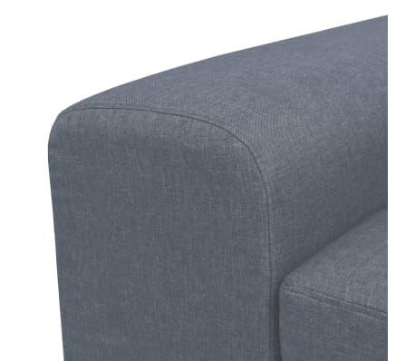 vidaXL Fotel materiałowy z poduszką, stalowe nogi, jasnoszary[8/11]