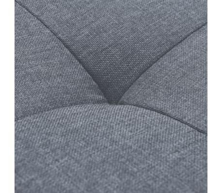 vidaXL Fotel materiałowy z poduszką, stalowe nogi, jasnoszary[9/11]