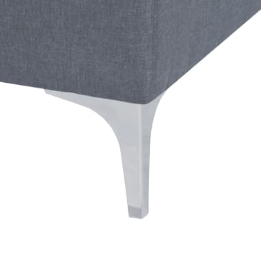 vidaXL Fotel materiałowy z poduszką, stalowe nogi, jasnoszary[10/11]