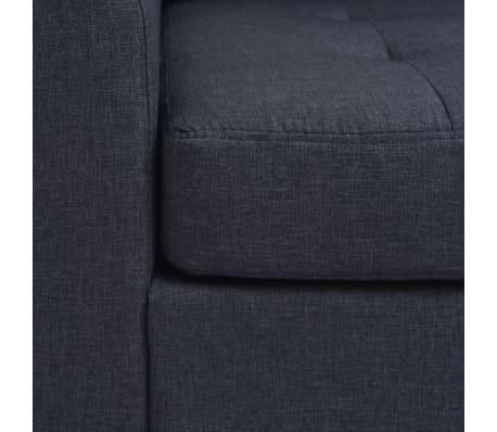 vidaXL Fåtölj med kudde stål och tyg mörkgrå[6/11]