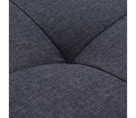 vidaXL Poltrona com almofada em aço e tecido cinzento escuro[8/11]