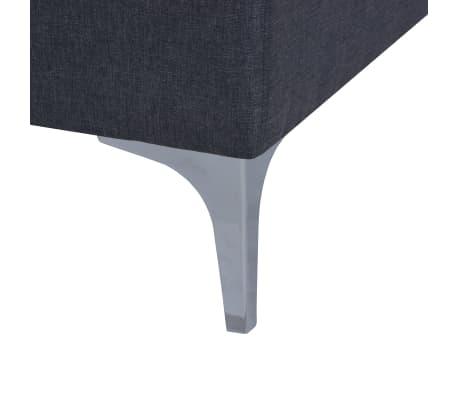 vidaXL Fåtölj med kudde stål och tyg mörkgrå[9/11]