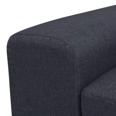 vidaXL Fåtölj med kudde stål och tyg mörkgrå[7/11]