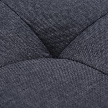 vidaXL Fåtölj med kudde stål och tyg mörkgrå[8/11]
