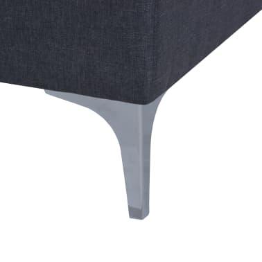 vidaXL Poltrona com almofada em aço e tecido cinzento escuro[9/11]