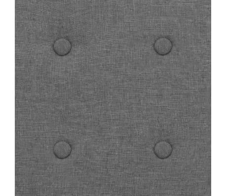 vidaXL Armchair Steel and Fabric Light Grey[5/6]