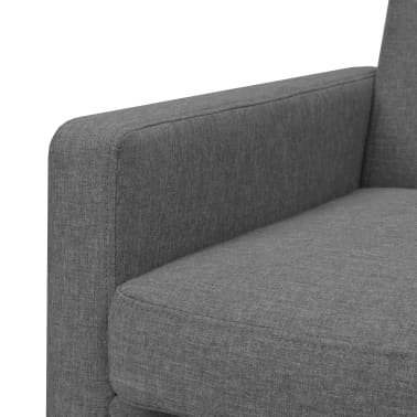 vidaXL Armchair Steel and Fabric Light Grey[4/6]