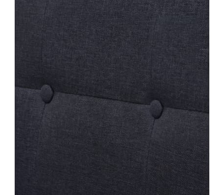 vidaXL Dvivietė sofa su porankiais, plienas, tamsiai pilkas audinys[5/6]