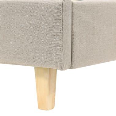 vidaXL Cadre de lit Tissu avec base à lattes 140 x 200 cm Beige[6/8]