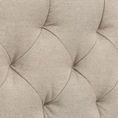vidaXL Cadre de lit Tissu avec base à lattes 140 x 200 cm Beige[7/8]